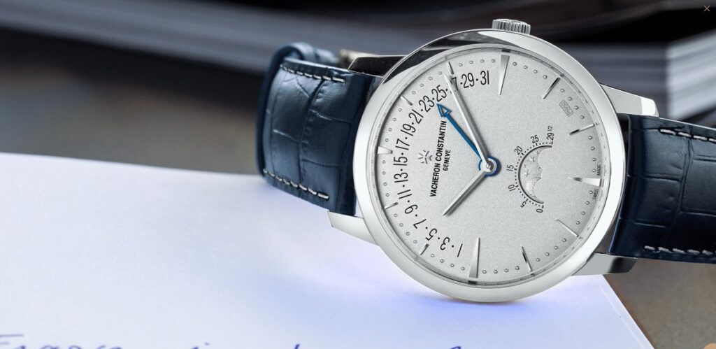 NEW MODEL: PATRIMONY MOONPHASE AND RETROGRADE EXCELLENCE PLATINE